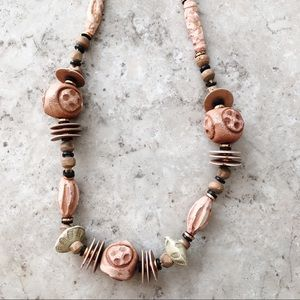 Jewelry - Chunky Natural Bead Long Necklace